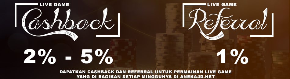 Live Game - Bonus Cashback & Referral